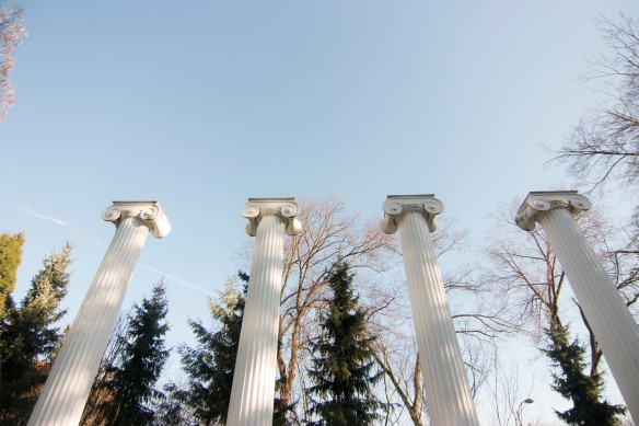 Sylvan Grove Columns on a sunny winter day. Photo by Katherine B. Turner/ UW