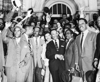 23 Mar 1956, Montgomery, Alabama, USA --- Martin Luther King Jr. After Bus Boycott Trial --- Image by © Bettmann/CORBIS